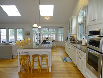 Brewster Cape Cod vacation rental - Large kitchen with center island, breakfast bar, new appliances