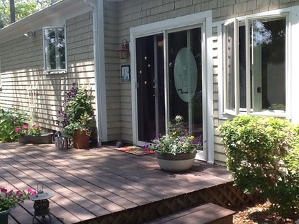 East Falmouth Cape Cod vacation rental - Large deck at back of house.