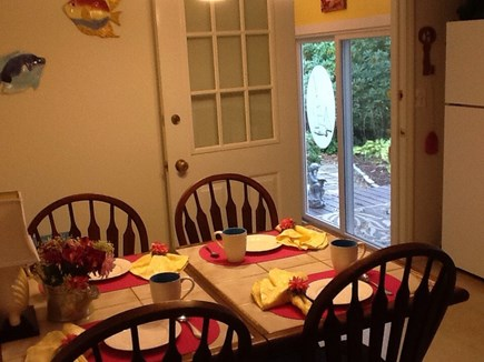 East Falmouth Cape Cod vacation rental - Eat in kitchen.