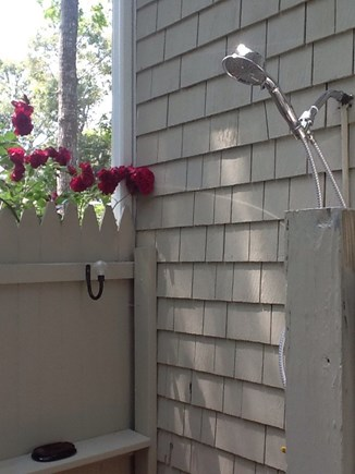 East Falmouth Cape Cod vacation rental - After a day at the beach enjoy and refresh in the outdoor shower.