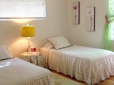 East Falmouth Cape Cod vacation rental - Twin bedroom with chest of drawers and closet.