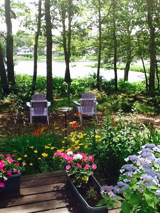 East Falmouth Cape Cod vacation rental - Sit in the shade and enjoy a cool drink or a good book .