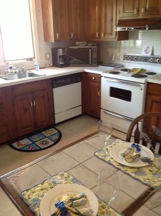 East Falmouth Cape Cod vacation rental - Kitchen well equipped, Kuerig coffee maker and coffee.
