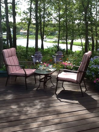 East Falmouth Cape Cod vacation rental - Enjoy your morning coffee on the quiet peaceful deck.