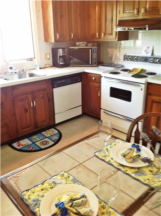 East Falmouth Cape Cod vacation rental - Kitchen has dishwasher,microwave,and refrigerator.