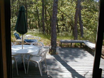 Wellfleet, Ocean side of Route 6 Cape Cod vacation rental - Deck