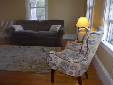Eastham Cape Cod vacation rental - Living area - lots of light, large screened TV and fireplace