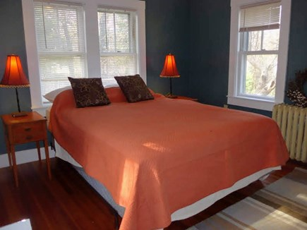 Eastham Cape Cod vacation rental - First floor bedroom, with light on three sides and new queen bed.