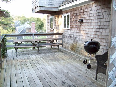 Chatham Cape Cod vacation rental - Large deck on 1st floor off kitchen and dining room