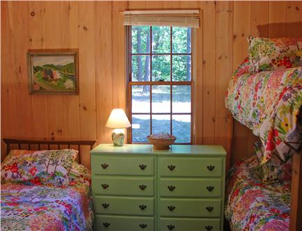 South Dennis Cape Cod vacation rental - Bright bedroom with one twin and bunk beds