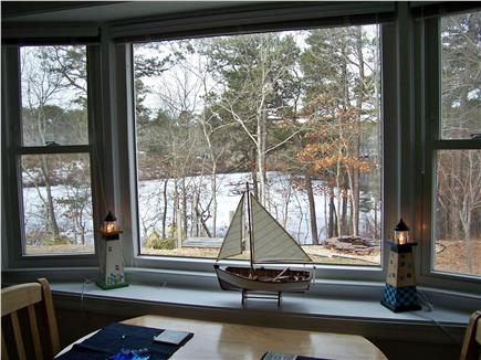 South Yarmouth Cape Cod vacation rental - Living Room w/ dining area by Bay Window overlooks pond