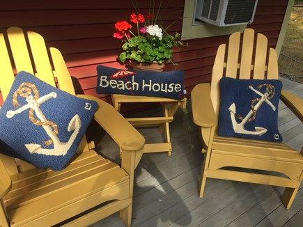 South Dennis Cape Cod vacation rental - Front and back decks