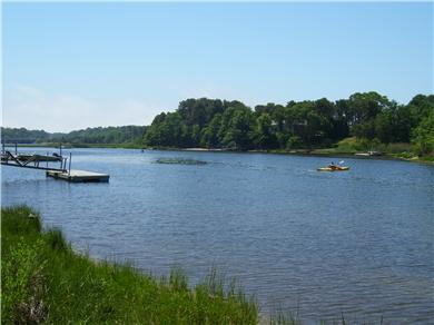 South Dennis Cape Cod vacation rental - The Bass River across the street for boating and fishing