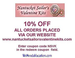 Coupon for Nantucket Sailor's Valentine Kits