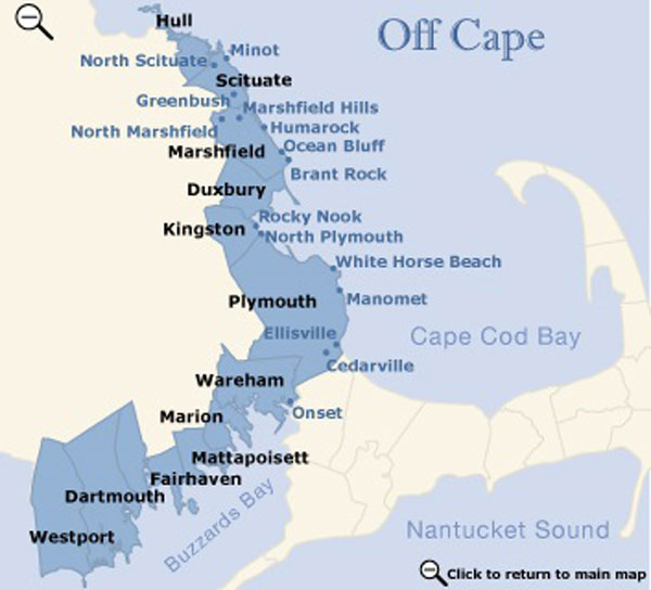 Just off Cape map