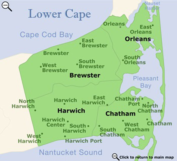 Lower Cape Cod map
