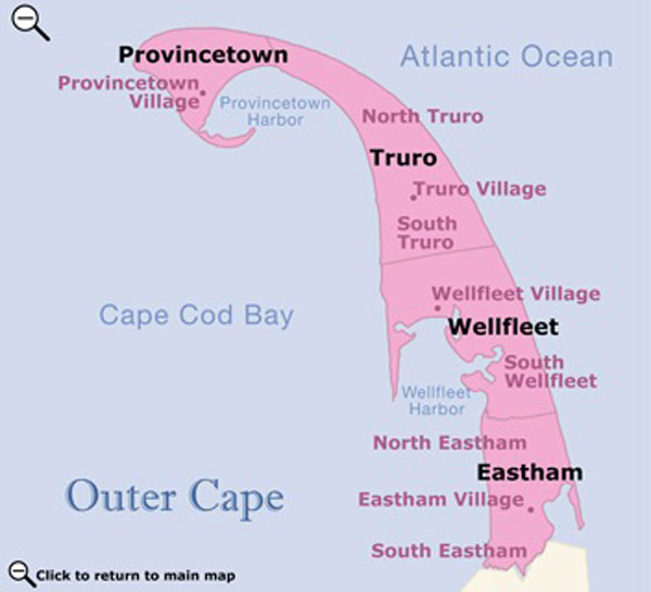 Outer Cape Cod map