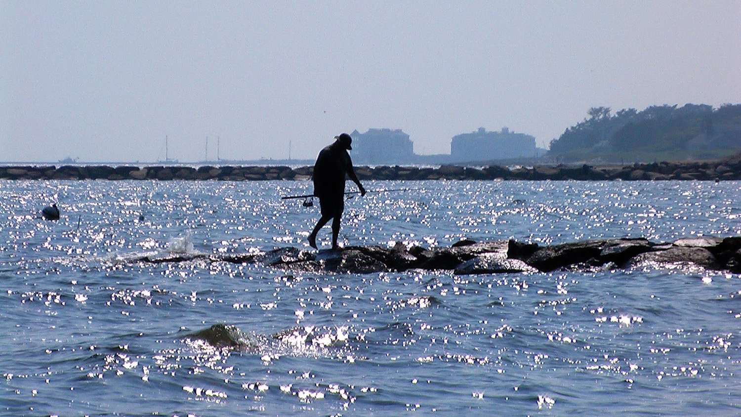 Fishing from a jetty