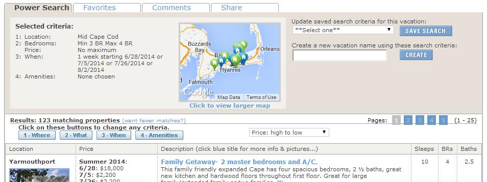 Cape Cod Power Search Results