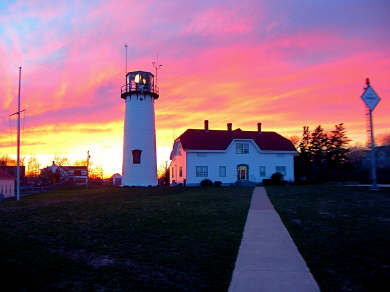 Chatham Lighthouse at Sunset