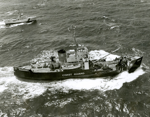 The Coast Guard Cutter, Hornbeam, collided with a freighter off Nantucket