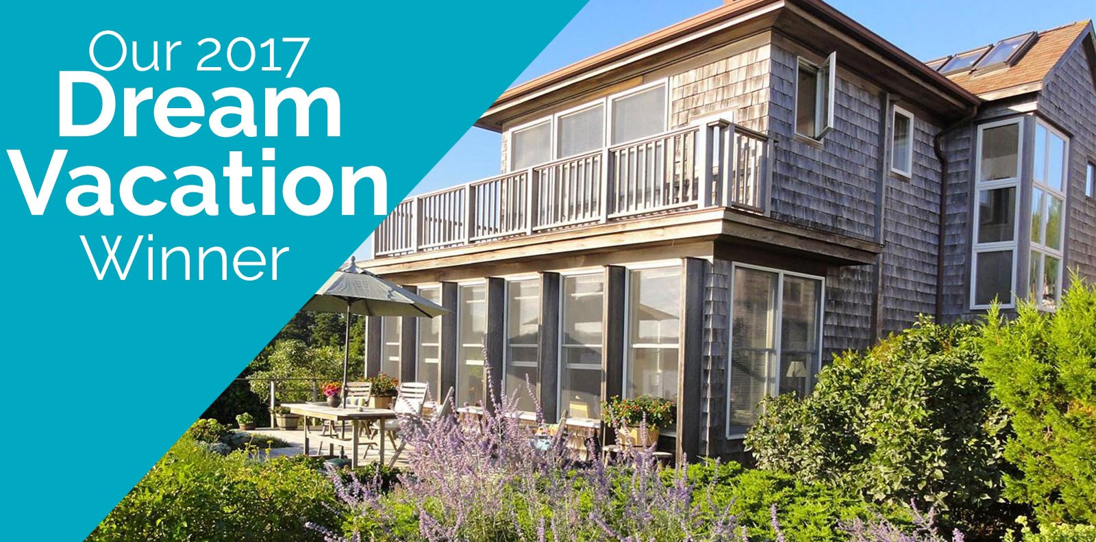 A week long vacation in Wellfleet doesn't sound too bad, especially when it's free! That's exactly what one lucky person received when they won the 2017 We Need a Dream Vacation giveaway!