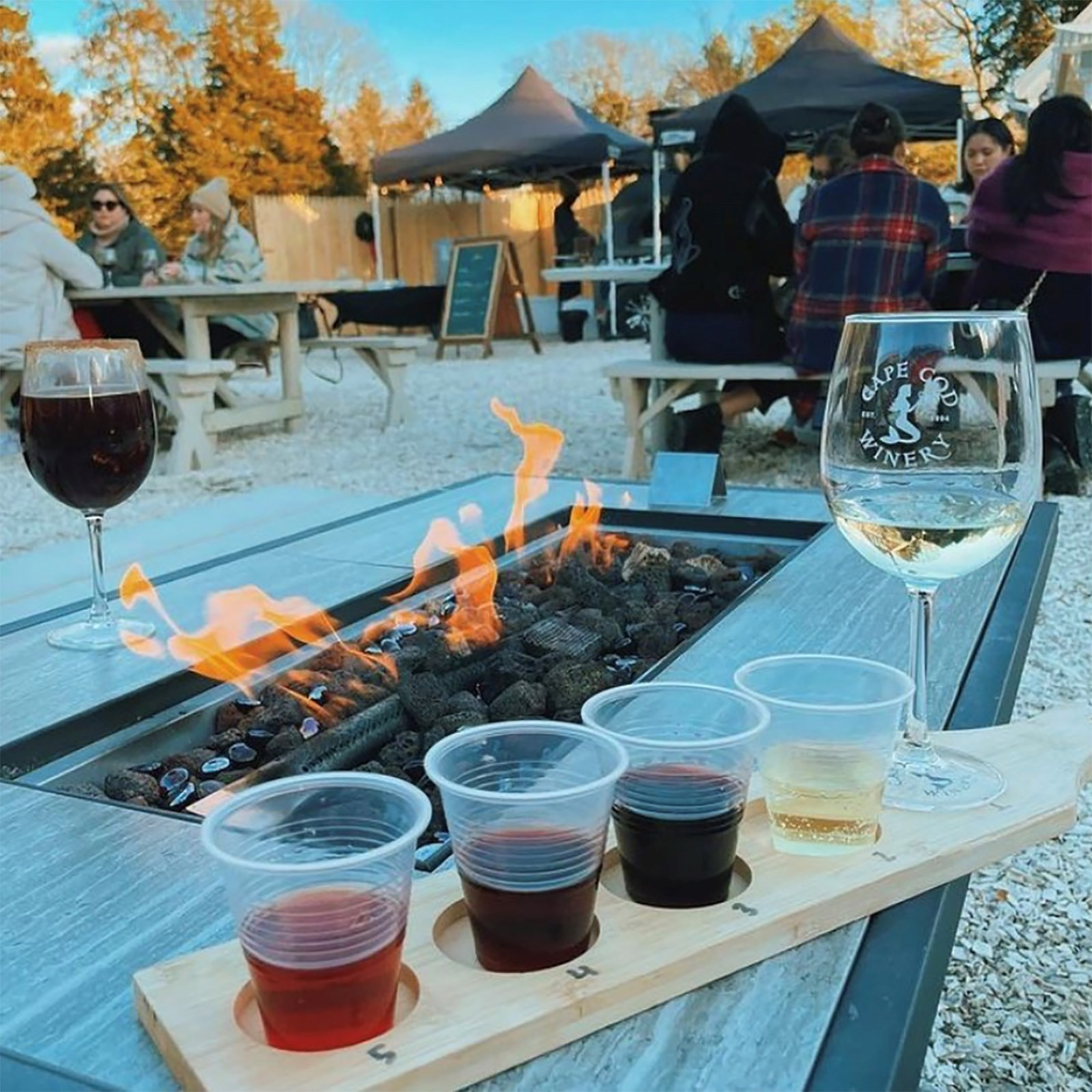 Sit back, relax, and enjoy a glass of locally crafted wine.