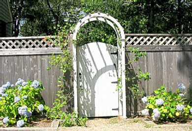 Oak Bluffs Martha's Vineyard vacation rental - Gate to the backyard with outdoor shower