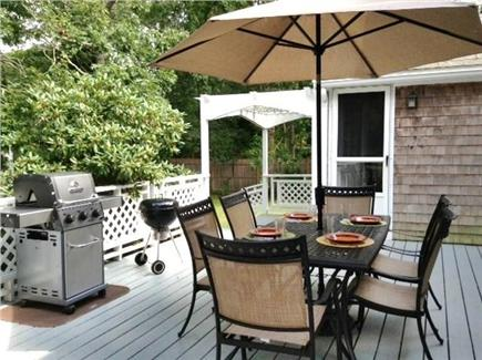 Oak Bluffs Martha's Vineyard vacation rental - Spacious, pretty deck with gas & charcoal grills in fenced yard