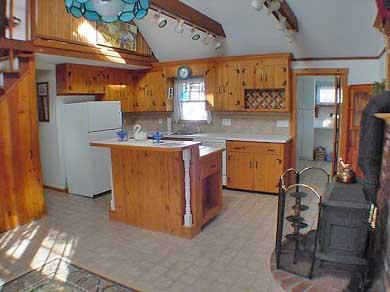 Oak Bluffs Martha's Vineyard vacation rental - Open well equipped kitchen w/ skylight & woodstove