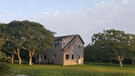 Chilmark, Quansoo Road across from Quans Martha's Vineyard vacation rental - Exterior of home with private yard