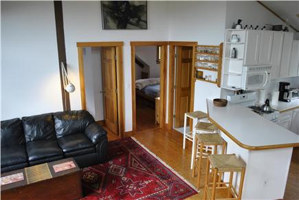 Chilmark, ACROSS FROM QUANSOO FARM!  Martha's Vineyard vacation rental - Kitchen living room upper