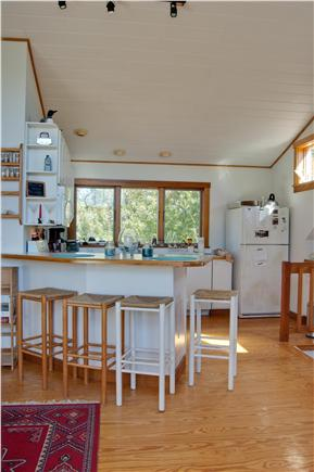 Chilmark, Quansoo Road across from Quans Martha's Vineyard vacation rental - Kitchen just steps to upper deck