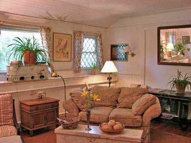 Vineyard Haven Martha's Vineyard vacation rental - Cozy living room with fireplace and TV