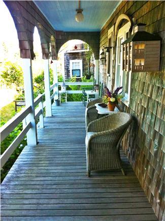 Chappaquiddick, Edgartown Martha's Vineyard vacation rental - The back porch, overlooking the gardens