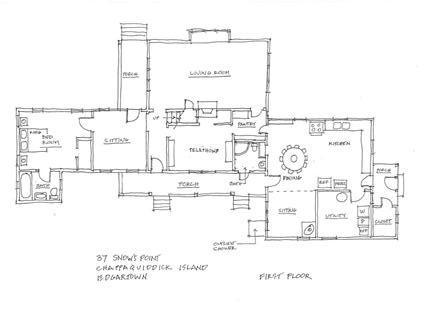 Chappaquiddick, Edgartown Martha's Vineyard vacation rental - Layout of the home