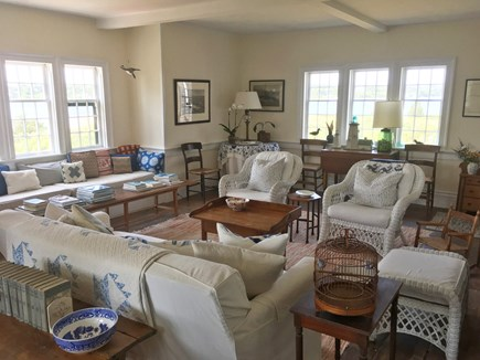 Chappaquiddick, Edgartown Martha's Vineyard vacation rental - The Living room with water views in 3 directions