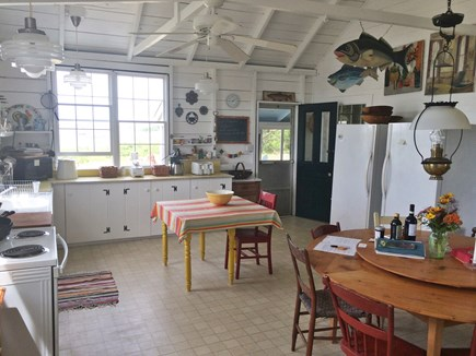 Chappaquiddick, Edgartown Martha's Vineyard vacation rental - The kitchen/dining room