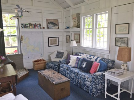 Chappaquiddick, Edgartown Martha's Vineyard vacation rental - The sitting room, open to the kitchen.