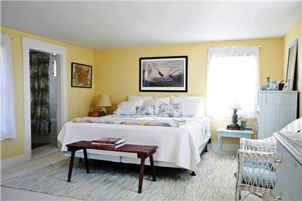Chappaquiddick, Edgartown Martha's Vineyard vacation rental - Owner's Bedroom w/ king sized bed, en suite bath & walk in closet