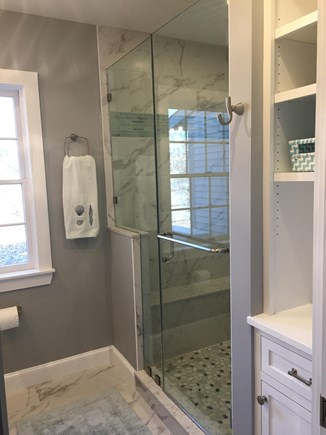 Edgartown Martha's Vineyard vacation rental - New! Ensuite bath in downstairs bedroom, great tile, heated floor