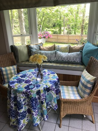 Edgartown Martha's Vineyard vacation rental - View from family room seating area to new back yard landscaping