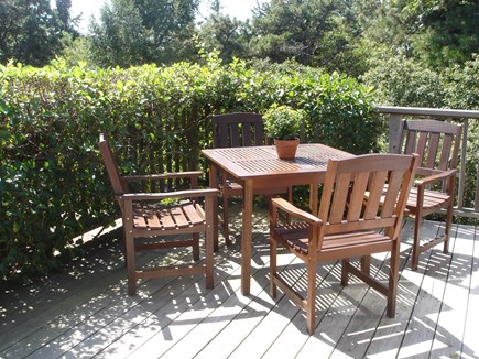 Edgartown Martha's Vineyard vacation rental - Second floor deck gets great afternoon sun to extend your day
