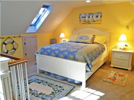 Edgartown Martha's Vineyard vacation rental - Queen bedroom – up private stairs from family room