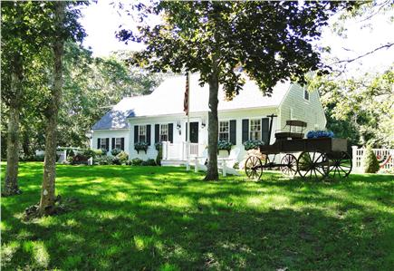 Edgartown Martha's Vineyard vacation rental - House sits back far from road, private with large yard