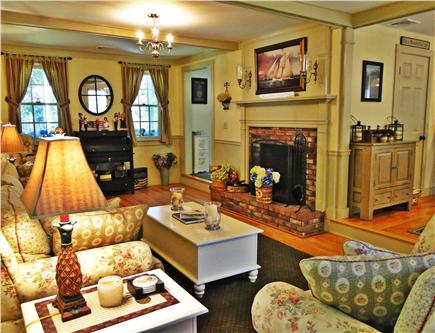 Edgartown Martha's Vineyard vacation rental - Spacious living room which opens to dining area
