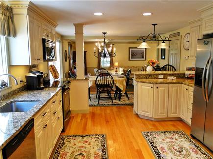 Edgartown Martha's Vineyard vacation rental - Modern kitchen with granite and stainless steel