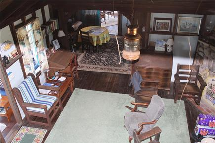 Oak Bluffs Martha's Vineyard vacation rental - Looking down into the open living area with view to dining area