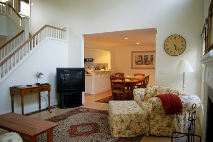 Vineyard Haven Martha's Vineyard vacation rental - LR, DR, Kitchen and stairway to second floor