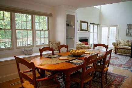 Vineyard Haven Martha's Vineyard vacation rental - Dining room with window seat